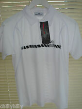 Sergio Tacchini Junior Polo Shirt White Quick Dry Age 12 (152cms) BNWT