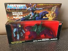 Vintage Mattel 1985 MOTU Battle Armor Skeletor & Panthor Gift Set -Sealed-