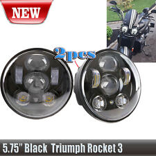 2X Black Triumph Speed/Street Triple, T509, 955, Rocket 3, Roadster headlights