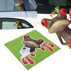 High Quality Funny Green Stick 3D Frog Car Stickers Window Vinyl Decal Sticker