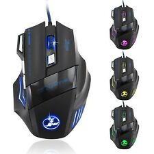 Zelotes 5500 DPI 7 Button LED Optical USB Wired Gaming Mouse