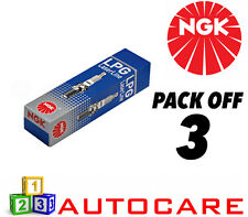 NGK LPG (GAS) Spark Plug set - 3 Pack - Part Number: LPG1 No. 1496 3pk