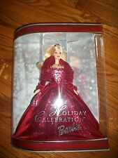 HOLIDAY CELEBRATION BARBIE 2002 Special Edition BURGUNDY VELVET DRESS