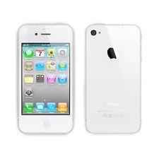 Custodia Cover Case per Apple iphone 4 4S in silicone trasparente e retro opaco