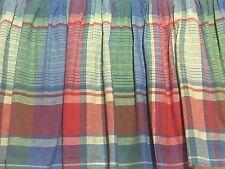 """RALPH LAUREN Bed Skirt Full Spinnaker Madras Plaid 13.5"""" Drop Dust Ruffle"""
