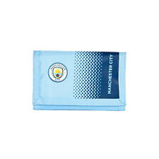 MANCHESTER CITY FC FADE MONEY WALLET PURSE NOTES COIN CARD MEN NEW XMAS GIFT