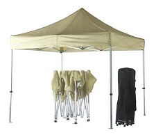 3m x 3m Ivory Poptents Heavy Duty Pop up Marquee Market Tent / Stall / Gazebo