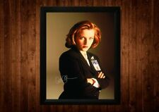 I file X scully gillian anderson firmato PP Incorniciato A4 idee regalo retro TV