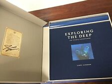 EXPLORING THE DEEP Signed By James Cameron TITANIC EXPEDITION Shell Box Set LNew