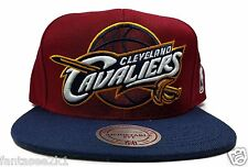 Cleveland Cavaliers Mitchell & Ness STA3 XL Logo Blue Red Snapback Hat Cap NBA