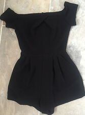 Off The Shoulder Black Playsuit Uk XS Boutique From Topshop