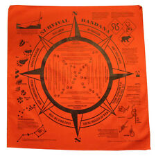 Survival Signaling & Survival Instructions Bandana - large - cotton - NEW