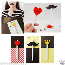 3-piece Cute Moustache Crown Heart Ball Pen Ballpen Medium Point 0.5 Mm, 3 Pens