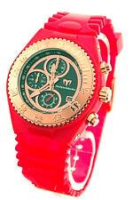 TechnoMarinE OLIMPIC RED Cruise Rose Gold Chronograph  + extra band NEW