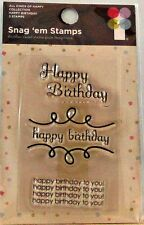 NEW IMAGINISCE CLEAR STAMP SET HAPPY BIRTHDAY 000826