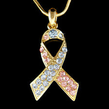 w Swarovski Crystal Pregnancy Infant Loss SIDS Miscarriage Ribbon Charm Necklace