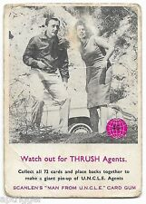 1967 Scanlens MAN From UNCLE (46) Watch out for THRUSH Agents ::
