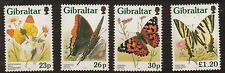 GIBRALTAR SG804/7 1997 BUTTERFLIES MNH