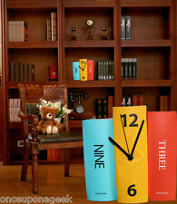 Karlsson Table Book Set Clock Multi Coloured Designer Battery Operated Bookcase