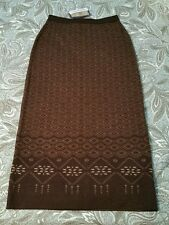 PENDLETON Spirit of the Peoples brown 100% Wool long Skirt NEW w/ tags Small