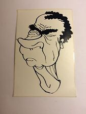 Lot Of 2 Richard Nixon Sticker Vintage /new Drawing Blk & White