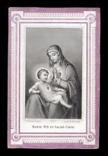 santino incisione 1800 N.SIGNORA DEL S.CUORE