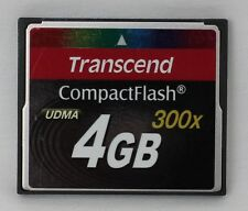 Genuine Transcend 4GB UDMA 300x Speed Compact Flash CF Memory Card