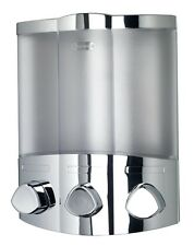 Euro Croydex Aviva Trio Chrome Soap Shampoo Triple Bathroom Shower Dispenser