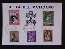 VATICAN MK 1966 PAPST PAUL VI POPE PAPA PAPIEZ CARTE MAXIMUM CARD MC c6274