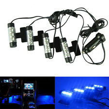 12V 4x 3LED Car Charge Glow Interior Decorative 4in1 Atmosphere  Lamp Light C1