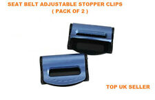 BLUE VAUXHALL SEAT ADJUSTABLE SAFETY BELT STOPPER CLIP CAR TRAVEL 2PCS