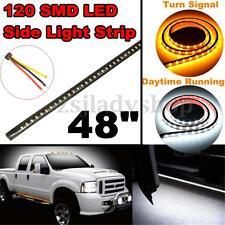 48'' LED Side Turn Signal Running Light Bar DRL Strip For Dodge Ram Pickup Truck