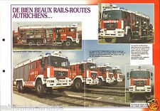 Fire engine Railway Rail-Routes DAF Feuerwehr RLF-T200 FICHE Pompier FIREFIGHTER