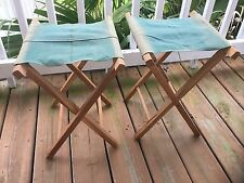 Pair Of Authentic Vintage 1950's Folding Camp Stools