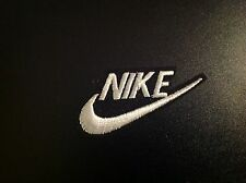 "2"" NIKE BLACK/WHITE SWOOSH LOGO Embroidered Iron On/Sew On Patch USA SELLER"