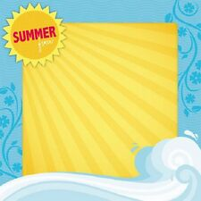 Scrapbook Paper 3D 12 x 12 inches SUMMER 2 Sheets   BBBE