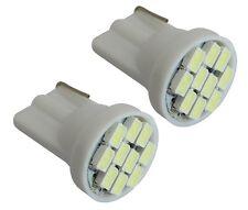 2x ampoule blanc T10 W5W 12V 4LED SMD veilleuses éclairage intérieur plafonnier