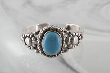 STERLING SILVER TURQUOISE STONE PINKEY RING 925 FINE 5115
