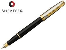 SHEAFFER PRELUDE BLACK ONYX LAQUE PALLADIUM PLATE CAP 22K GT FOUNTAIN PEN 337-0F