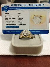 MENS DIAMOND CLUSTER 1.05ctw. PINKIE RING NO RESERVE