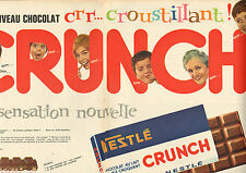 Publicité Advertising 1962 (Double page)  Chocolat CRUNCH de NESTLE riz croquant