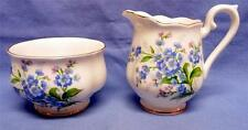 ROYAL ALBERT  FORGET ME NOT BONE CHINA SET  CREAMER&SUGAR ENGLAND VINTAGE