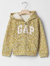 GAP Baby / Toddler Girls Size 2 Years / 2T Yellow Floral Hoodie Logo Sweatshirt