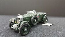 1929 BENTLEY GREEN FRANKLIN MINT 1:24 METAL DIECAST NICE DETAIL WITH RARE DRIVER