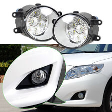 2x 9LED Round DRL Daytime Running Driving Fog Lights for Toyota Camry Corolla