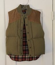 POLO by Ralph Lauren Vintage Hunting Down Vest Small Brown Suede Women's Fall