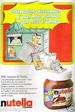 Publicité advertising 1986 Chocolat pate à tartiner Nutella Ferrero