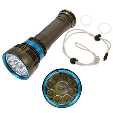 SKYRAY 18000Lm 9x CREE XM-L2 LED Underwater 100m Scuba Diving Flashlight Torch