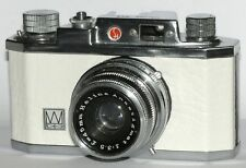 Vintage HALINA 35X CAMERA, CASE & RANGEFINDER. WHITE LEATHERETTE
