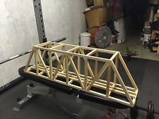 "PLANS for 96"" G Scale Ceiling Railroad Truss Bridge"